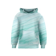 Blue Texture Seawall Ink Wall Painting Kids  Pullover Hoodie