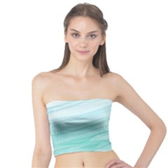 Blue Texture Seawall Ink Wall Painting Tube Top