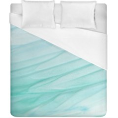 Blue Texture Seawall Ink Wall Painting Duvet Cover (california King Size)