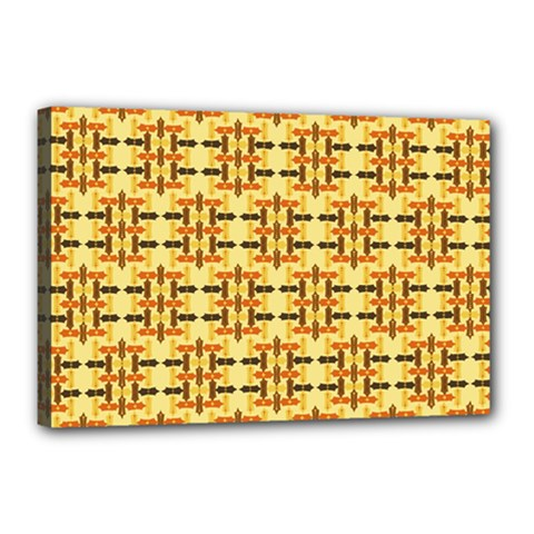 Ethnic Traditional Vintage Background Abstract Canvas 18  X 12