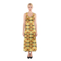 Ethnic Traditional Vintage Background Abstract Sleeveless Maxi Dress