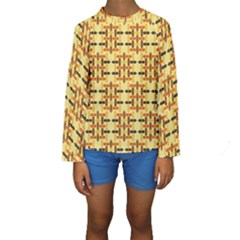 Ethnic Traditional Vintage Background Abstract Kids  Long Sleeve Swimwear