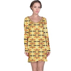 Ethnic Traditional Vintage Background Abstract Long Sleeve Nightdress