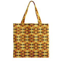 Ethnic Traditional Vintage Background Abstract Zipper Grocery Tote Bag