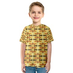 Ethnic Traditional Vintage Background Abstract Kids  Sport Mesh Tee