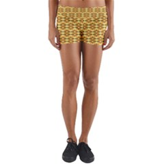 Ethnic Traditional Vintage Background Abstract Yoga Shorts