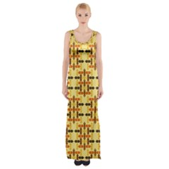 Ethnic Traditional Vintage Background Abstract Maxi Thigh Split Dress