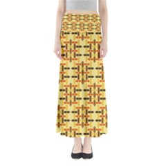 Ethnic Traditional Vintage Background Abstract Full Length Maxi Skirt