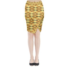 Ethnic Traditional Vintage Background Abstract Midi Wrap Pencil Skirt