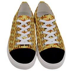 Ethnic Traditional Vintage Background Abstract Women s Low Top Canvas Sneakers