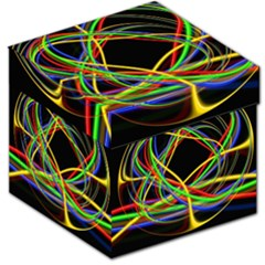 Ball Abstract Pattern Lines Storage Stool 12