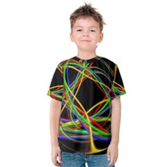 Ball Abstract Pattern Lines Kids  Cotton Tee