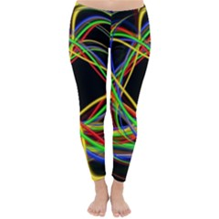 Ball Abstract Pattern Lines Classic Winter Leggings