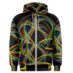 Ball Abstract Pattern Lines Men s Zipper Hoodie