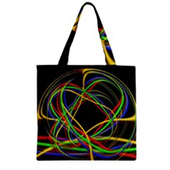Ball Abstract Pattern Lines Zipper Grocery Tote Bag