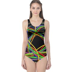 Ball Abstract Pattern Lines One Piece Swimsuit