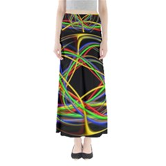 Ball Abstract Pattern Lines Full Length Maxi Skirt