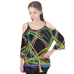 Ball Abstract Pattern Lines Flutter Tees