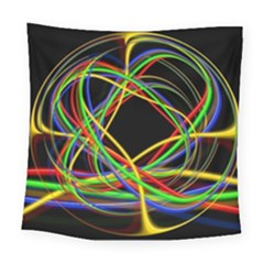 Ball Abstract Pattern Lines Square Tapestry (large)