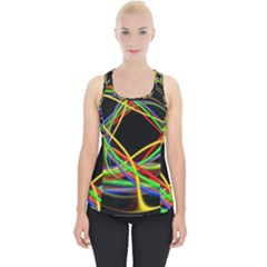 Ball Abstract Pattern Lines Piece Up Tank Top