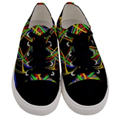 Ball Abstract Pattern Lines Men s Low Top Canvas Sneakers