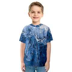 Water Nature Background Abstract Kids  Sport Mesh Tee