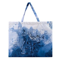 Water Nature Background Abstract Zipper Large Tote Bag