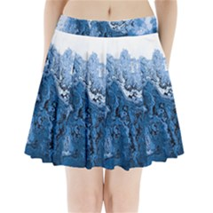 Water Nature Background Abstract Pleated Mini Skirt