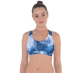Water Nature Background Abstract Cross String Back Sports Bra