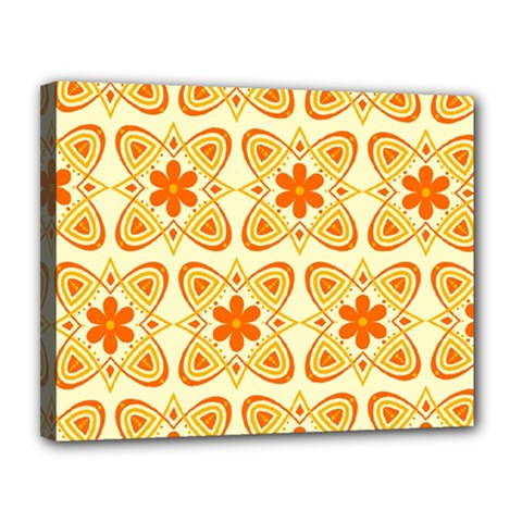 Background Floral Forms Flower Canvas 14  X 11