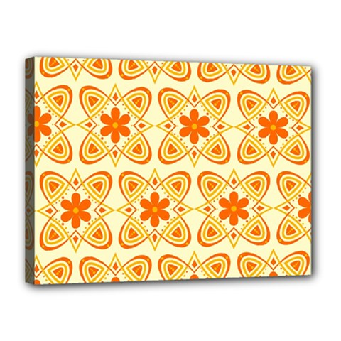 Background Floral Forms Flower Canvas 16  X 12