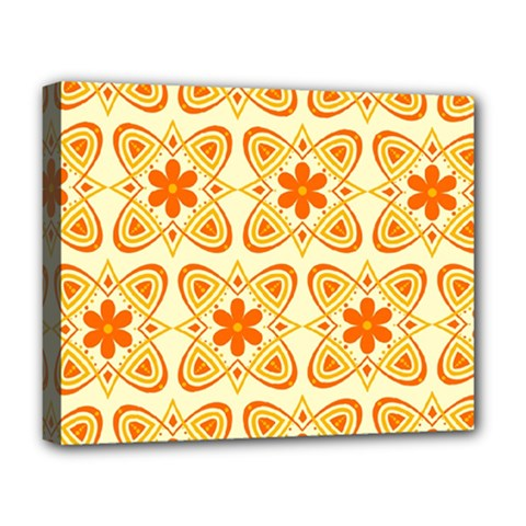 Background Floral Forms Flower Deluxe Canvas 20  X 16