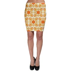 Background Floral Forms Flower Bodycon Skirt