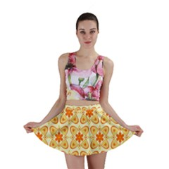 Background Floral Forms Flower Mini Skirt