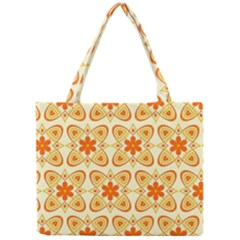 Background Floral Forms Flower Mini Tote Bag
