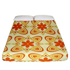 Background Floral Forms Flower Fitted Sheet (california King Size)