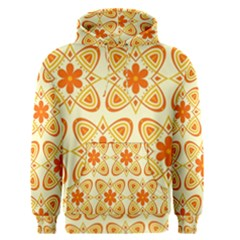 Background Floral Forms Flower Men s Pullover Hoodie