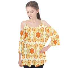 Background Floral Forms Flower Flutter Tees