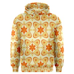 Background Floral Forms Flower Men s Overhead Hoodie
