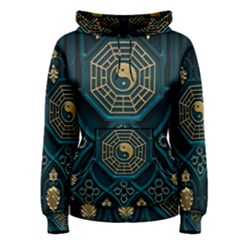 Ying Yang Abstract Asia Asian Background Women s Pullover Hoodie