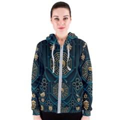 Ying Yang Abstract Asia Asian Background Women s Zipper Hoodie