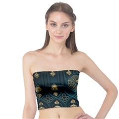 Ying Yang Abstract Asia Asian Background Tube Top