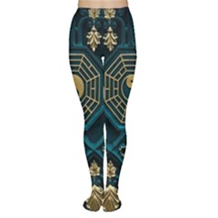 Ying Yang Abstract Asia Asian Background Women s Tights