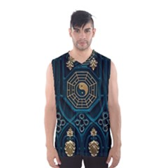 Ying Yang Abstract Asia Asian Background Men s Basketball Tank Top