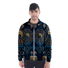 Ying Yang Abstract Asia Asian Background Wind Breaker (men)