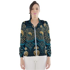 Ying Yang Abstract Asia Asian Background Wind Breaker (women)