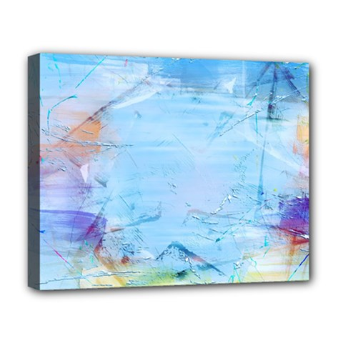 Background Art Abstract Watercolor Deluxe Canvas 20  X 16   by Nexatart
