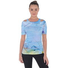 Background Art Abstract Watercolor Short Sleeve Top