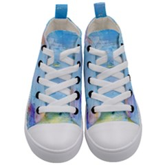 Background Art Abstract Watercolor Kid s Mid Top Canvas Sneakers
