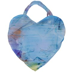 Background Art Abstract Watercolor Giant Heart Shaped Tote by Nexatart